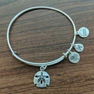 Alex and Ani sand dollar charm bangle bracelet